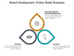 Brand Development Online Retail Business Ppt Powerpoint Presentation Gallery Infographics Cpb