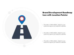 Brand Development Roadmap Icon With Location Pointer