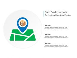 Brand Development With Product And Location Pointer