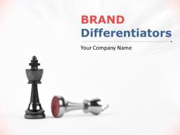 Brand Differentiators Powerpoint Presentation Slides