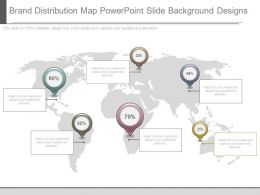 Brand Distribution Map Powerpoint Slide Background Designs