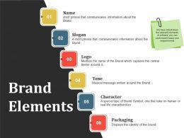Brand Elements Powerpoint Slide
