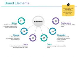 Brand Elements Powerpoint Slide Presentation Examples