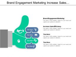 Brand Engagement Marketing Increase Sales Efficiency Disruption Marketing Cpb