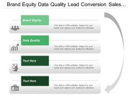 Brand Equity Data Quality Lead Conversion Sales Funnel