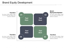 Brand Equity Development Ppt Powerpoint Presentation Gallery Show Cpb