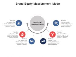 Brand Equity Measurement Model Ppt Powerpoint Presentation Outline Cpb