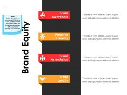 Brand Equity Powerpoint Shapes
