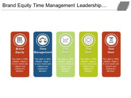 Brand Equity Time Management Leadership Qualities Market Technologies