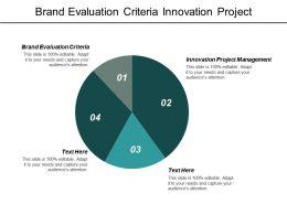 Brand Evaluation Criteria Innovation Project Management Management Matrix Cpb