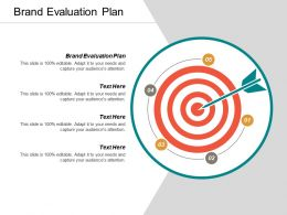 Brand Evaluation Plan Ppt Powerpoint Presentation File Diagrams Cpb