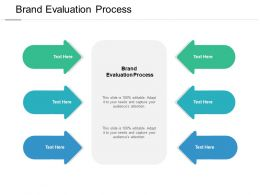 Brand Evaluation Process Ppt Powerpoint Presentation Outline Example Cpb