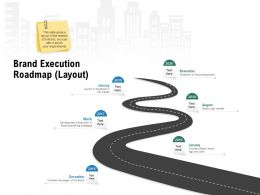 Brand Execution Roadmap Layout Ppt Powerpoint Presentation Professional Background