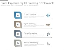 Brand Exposure Digital Branding Ppt Example