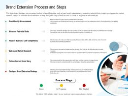 Brand Extension Process And Steps Franchise Ppt Powerpoint Presentation Infographics Show