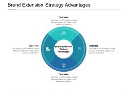 Brand Extension Strategy Advantages Ppt Powerpoint Presentation Layouts Visual Aids Cpb