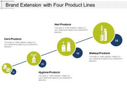 Brand Extension With Four Product Lines