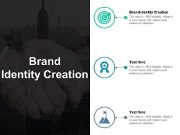 Brand Identity Creation Ppt Powerpoint Presentation Show Icons Cpb