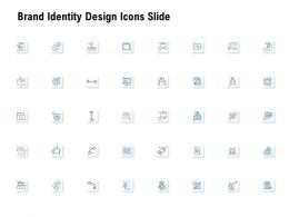 Brand Identity Design Icons Slide Ppt Powerpoint Presentation Model Sample