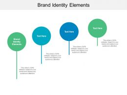 Brand Identity Elements Ppt Powerpoint Presentation Professional Layout Ideas Cpb