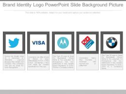 Brand Identity Logo Powerpoint Slide Background Picture