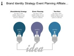 Brand Identity Strategy Event Planning Affiliate Marketing Business Opportunities Cpb