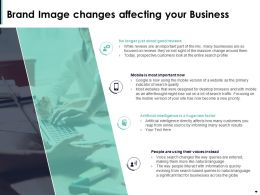 Brand Image Changes Affecting Your Business Ppt Powerpoint Presentation Gallery