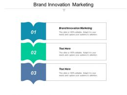 Brand Innovation Marketing Ppt Powerpoint Presentation Visual Aids Summary Cpb