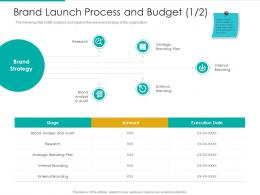 Brand Launch Process And Budget Analysis Plan Brand Ppt Pictures Graphic Tips