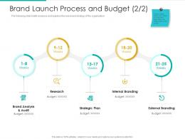 Brand Launch Process And Budget Plan Strategic Audit Ppt Inspiration File Formats