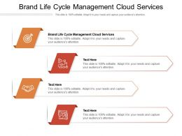 Brand Life Cycle Management Cloud Services Ppt Powerpoint Presentation Layouts Slide Cpb