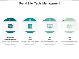 Brand Life Cycle Management Ppt Powerpoint Presentation Infographics Cpb