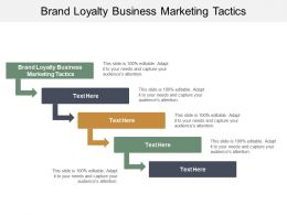 Brand Loyalty Business Marketing Tactics Ppt Powerpoint Presentation Icon Graphic Images Cpb