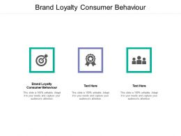 Brand Loyalty Consumer Behaviour Ppt Powerpoint Presentation Slides Design Templates Cpb