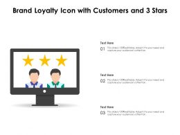 Brand Loyalty Icon With Customers And 3 Stars