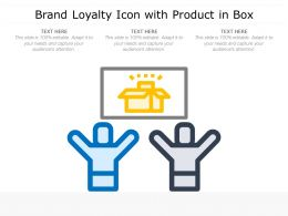 Brand Loyalty Icon With Product In Box
