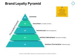 Brand Loyalty Pyramid Price D146 Ppt Powerpoint Presentation Gallery Model