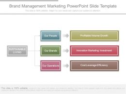 Brand Management Marketing Powerpoint Slide Template