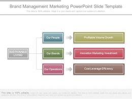 Brand Management Marketing Powerpoint Slide Template