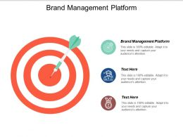 Brand Management Platform Ppt Powerpoint Presentation Icon Show Cpb