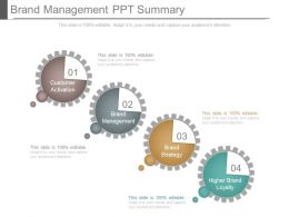 Brand Management Ppt Summary