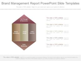Brand Management Report Powerpoint Slide Templates