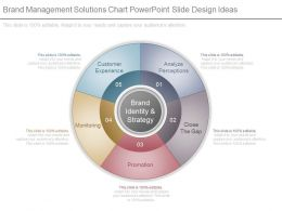 Brand Management Solutions Chart Powerpoint Slide Design Ideas