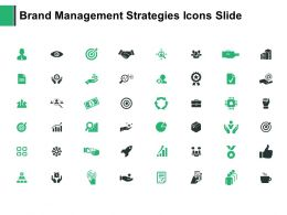 Brand Management Strategies Icons Slide Agenda Our Goal Ppt Powerpoint Presentation