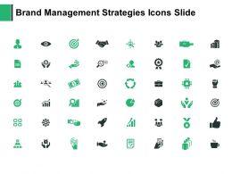 Brand Management Strategies Icons Slide Agenda Our Goal Ppt Powerpoint Presentation