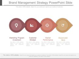 Brand Management Strategy Powerpoint Slide