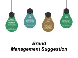 Brand Management Suggestion Ppt Powerpoint Presentation Infographics Smartart Cpb