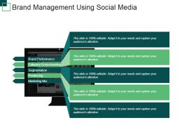 Brand Management Using Social Media Powerpoint Templates