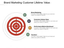 Brand Marketing Customer Lifetime Value Performance Metrics Dashboard Cpb