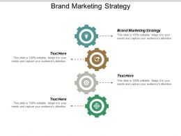 Brand Marketing Strategy Ppt Powerpoint Presentation Visual Aids Diagrams Cpb